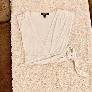 Wrap sleeveless top